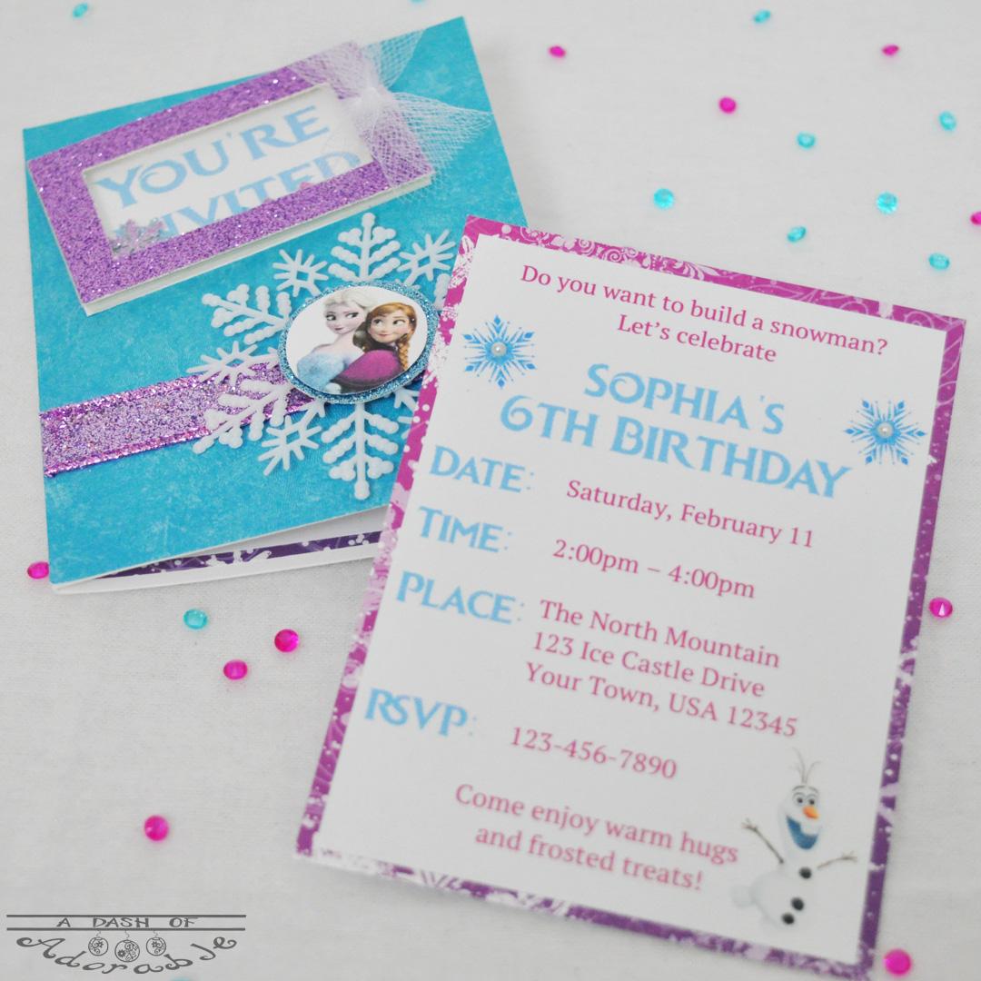 Frozen Party – A Dash of Adorable
